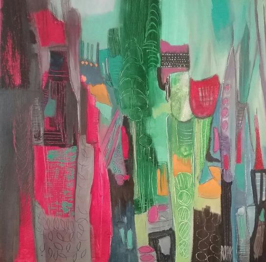 Brigitte rochas-60 x 60 Ma Ville en Vert