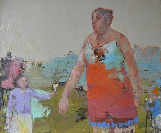Valérie Jayat Dans mon jardin 70 x 50 cm