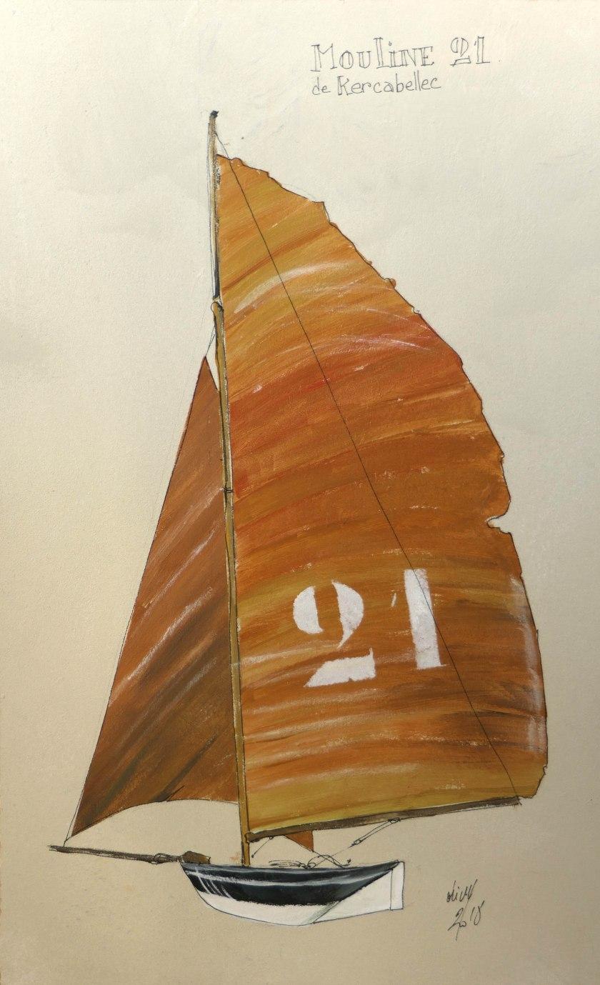 Etienne Olivry- Mouline21Acryl