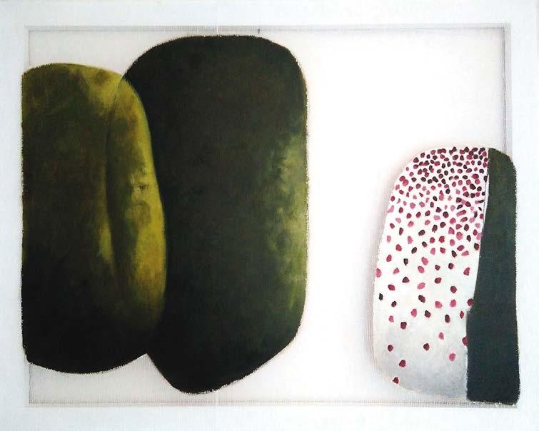 Valérie Lemoal Acrylique sur Tarlatane 81 x 65 cm