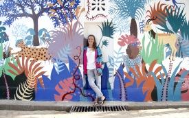 Sophie Le Hire - Fresque Dakar