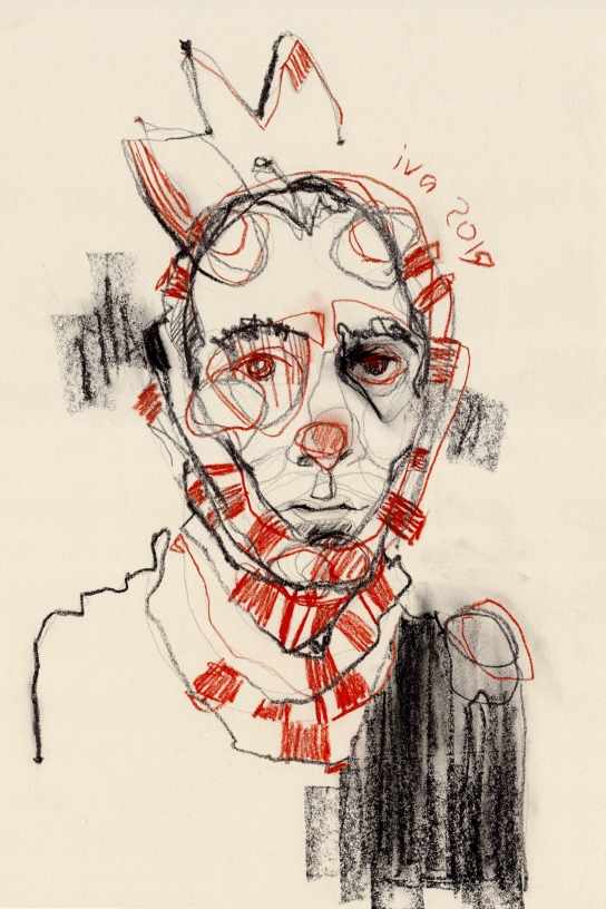 3.Ivchenkova_Prince_pierre noire,sanguine sur papier_42x28cm